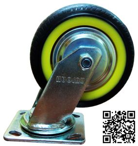 Heavy Duty Black TPR Swivel Caster pictures & photos