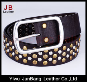 Lady′s Fashion PU Belt with Rivets