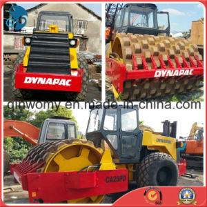 40hc_Container-Shipping 12~25ton/Vibrating New-Headlights Aircooled Sheep-Feet-Capped Used Dynapac Ca25pd Road Roller pictures & photos