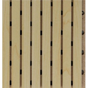 Wooden Grooved Acoustic MDF Wall Panel pictures & photos
