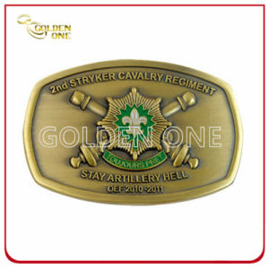 Factory Supply Antique Brass Plated Metal Belt Buckle pictures & photos