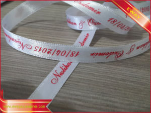 OEM Clothing Satin Tape Printed Satin Hang Loop pictures & photos