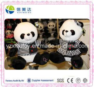 Good Handmade Girl′s Dress Plush Panda Stuffed Toy pictures & photos