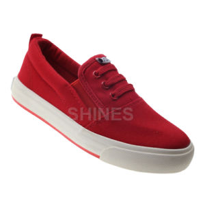 Slide Canvas Vulcanized Shoe for Children pictures & photos