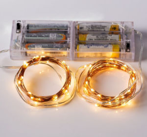 3.9M LED Battery Operate Copper Wire Fairy String Light for Holiday pictures & photos