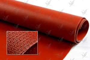 Silicone Rubber Coated Fireproof Insulation Fiberglass Cloth pictures & photos