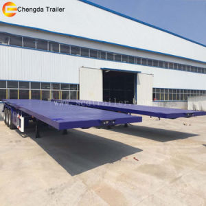 3 Axles 40 FT 40feet 20feet Skeleton Container Trailer pictures & photos