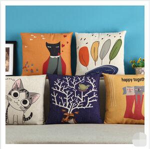 Animal Cotton Chair Cushion Cover Sofa Cushion pictures & photos