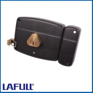 540.12b Iron Lock Case Brass Cylinder Door Rim Lock pictures & photos