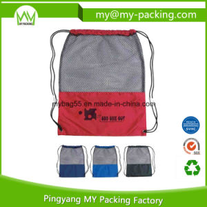 High Quality Advertising Mesh Drawstring Bags pictures & photos