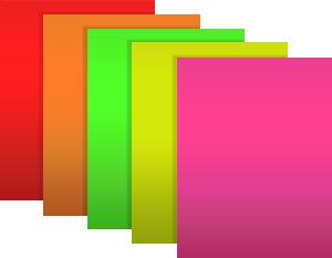 80g Washable Glue Adhesive Fluorescence Paper Sticker