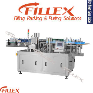Automatic Paste Label Labeling Machine Forcans, Jars pictures & photos