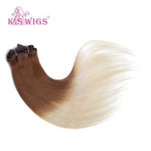 K. S Wigs New Arrival Peruvian Human Hair Extensions Clip on Hair pictures & photos