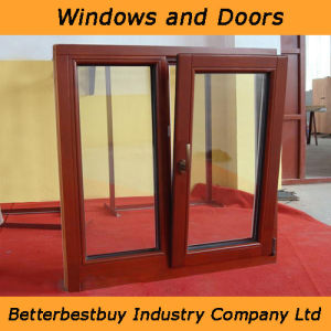 Tilt and Turn Wood Aluminium Cladding Window for Bad Weather pictures & photos
