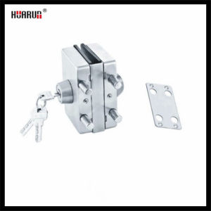 Stainless Steel Glass Door Lock with Wall HR-1140/HR-1140B: pictures & photos