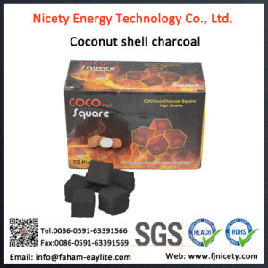 Machine Made Coconut Shell Tablet Hookah Charcoal in Cubic for Shisha pictures & photos