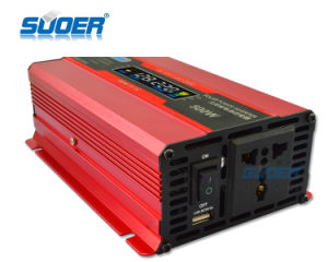 Suoer Factory Price LCD Display Inverter 500W DC12V Inverter (SDB-500A) pictures & photos