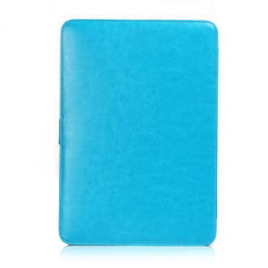 2016 Blue Beautiful PU Leather Laptop Sleeve Cover 15 Inch pictures & photos