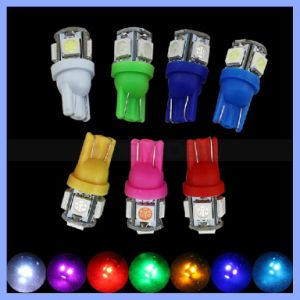 Custom Colorful T10 W5w 168 194 5050 5SMD LED Car Light Super Bright DC12V Wedge Lamp Bulbs pictures & photos