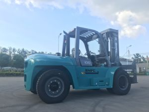 Heavy Load Duty 10 Ton Truck Forklift with Cabin pictures & photos