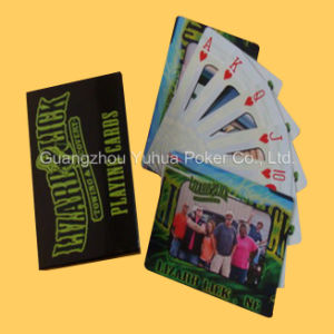 High Quality Waterproof 100% Plastic Ad Playing Cards Poker pictures & photos