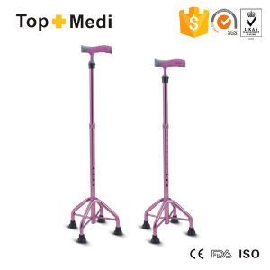 Topmedi Adjustable Height Aluminum Walking Stick Cane pictures & photos