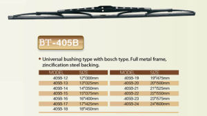 Wiper Blade Frameless or Frame Wiper Multifuction Wiper (BT-405B) pictures & photos