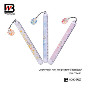 Office Cartoon Color Flat Ruler with Pendant 2016
