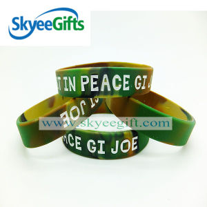 Eco-Friendly Colorful Swirl Silicone Rubber Wristband pictures & photos