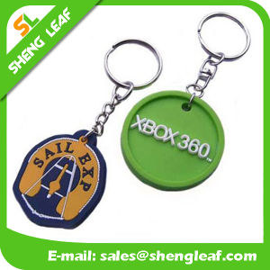 Low Price Cute Raised Custom Rubber Key Chain (SLF-KC058) pictures & photos
