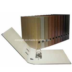 A4 Wooden Pattern Printing Paper Lever Arch File Folder pictures & photos