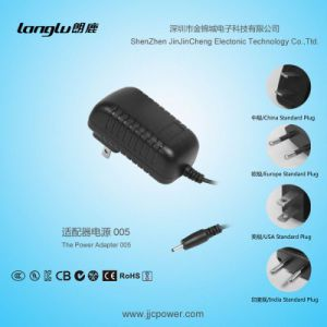 12V/1A/12W AC/DC Wall Mount Switching Power Adapter