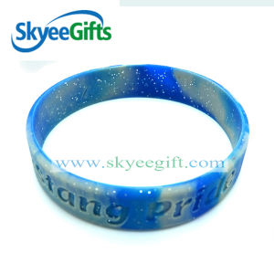 Multi Color Mixed Swirl Silicone Bracelet pictures & photos