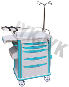 Medical ABS Emergency Trolley Jyk-C10c pictures & photos