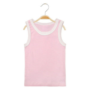 Customize Cute Pure Cotton Soft Baby Vest pictures & photos