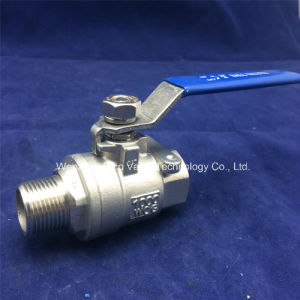 Stainless Steel 2 Inch Male and Famale 2PC Ball Valve with Locking Handle pictures & photos