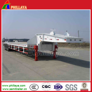2-3axle 13.5m 40ton Low Bed Lowboy Truck Semi Trailers pictures & photos