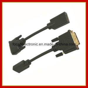 HDMI Female to DVI (18+1) Male Converter Cable pictures & photos