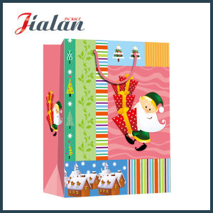 Christmas Design Paper Shopping Bag with Organza Handle pictures & photos