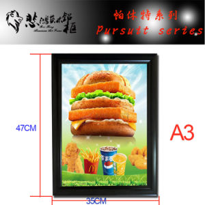 Aluminum Snap Photo Frame for Decoration with LED pictures & photos