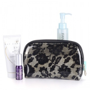 Lace PVC Make up Bag pictures & photos