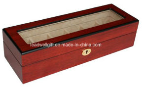 6 Piece Cherry Wood Watch Box Display Case and Storage Organizer pictures & photos