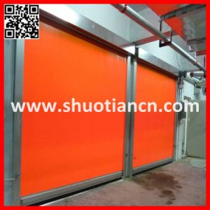 High Speed Fabric PVC Automatic Roller Shutter Door (ST-001) pictures & photos