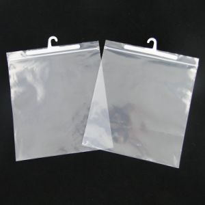 Customized Recycle Plastic Hanging Hook Packaging Bag for Apparel pictures & photos
