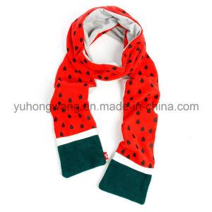 Customized Lady Warm Knitting Polar Fleece Scarf pictures & photos