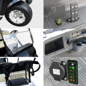 Electric Golf Cart with Solar Panel, 6-Seater White pictures & photos