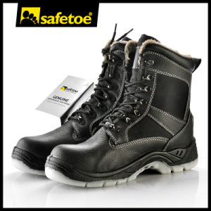 Winter Warm Safety Boots with Genuine Lamb Fur H-9442 pictures & photos