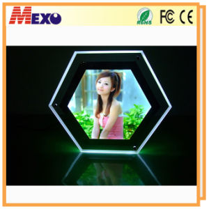 Table Top Acrylic Crystal LED Photo Frame Light Box (CST01-HX-01) pictures & photos