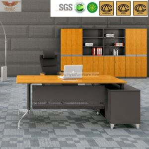 Straight Edge Bright Yellow Bamboo Office Executive Desk Certificated by Fsc (HY-H60-0103) pictures & photos