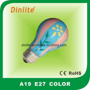 A19 Colorful Incandescent Craft Bulb pictures & photos